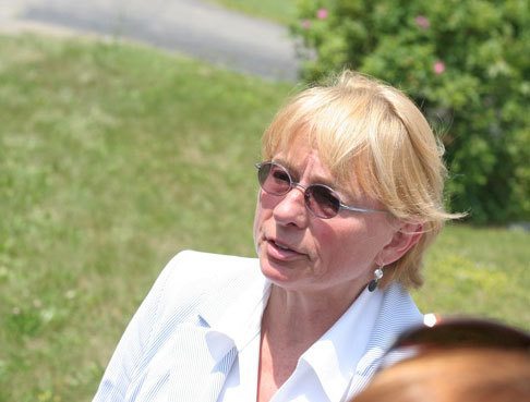Maine Attorney General Janet Mills speaks to reporters Thursday afternoon after two officers shot and killed an armed man near Togus in Augusta on July 8, 2010.
