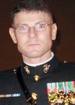 James &quotBing&quot Popkowski, 37, an armed former U.S. Marine from Grindstone who was killed by Maine law enforcement officers Thursday, July 8, 2010 near the Veterans Affairs Medical Center at Togus in Augusta. (Photo courtesy of Facebook)
