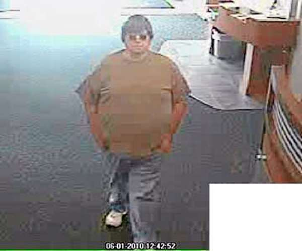 FBI-Boston has released these photos of the &quotBurly&quot Bandit, believed responsible for at least ten robberies in four states. This photo:  Londonderry, N.H., June 1, 2010. (FBI photo)