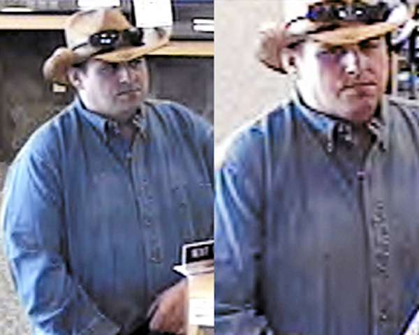 FBI-Boston has released these photos of the &quotBurly&quot Bandit, believed responsible for at least ten robberies in four states. This photo: Warwick, R.I., May 27, 2010. (FBI photo)