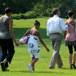 Visitors, locals upbeat during Obama family visit