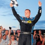 Leighton's bad tire leads to fifth place