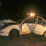 Speed apparent factor when car hits pole