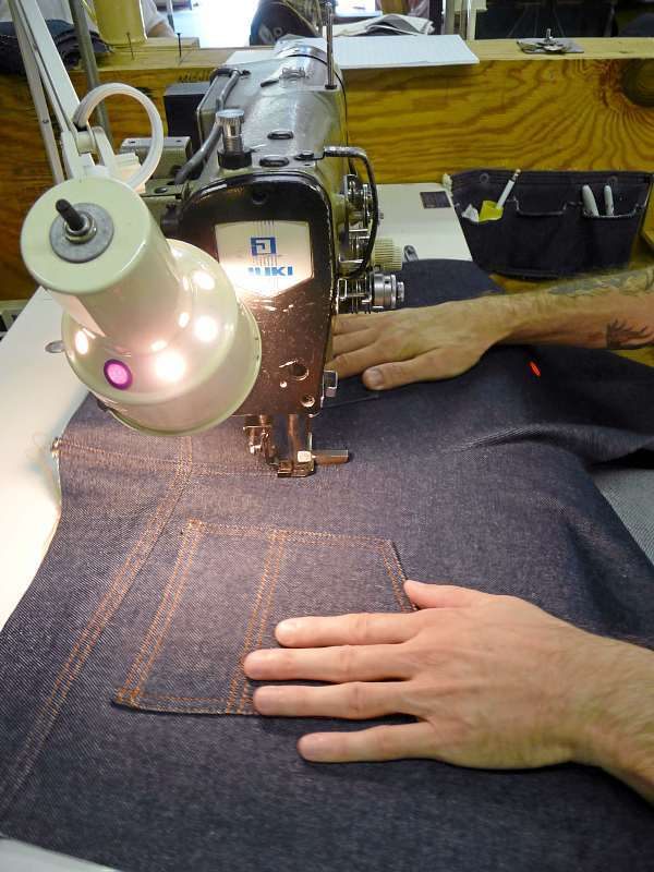 Stitchers in the garment room at Downeast Correctional Facility work on creating jeans. Workers at DECF create all the jeans and jean jackets for all state correctional facilities. The prison also operates a woodworking shop, a carpentry facility, a welding shop, an automotive repair shop and inmates also learn skills in the prison kitchen. &quotWe are the best kept secret Down East,&quot Facility Director Scott Jones said. BANGOR DAILY NEWS PHOTO BY SHARON KILEY MACK