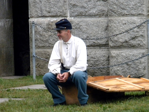 Cpl. Tim Brochu of the 20th Maine Company B prepares for his execution. Buy Photo