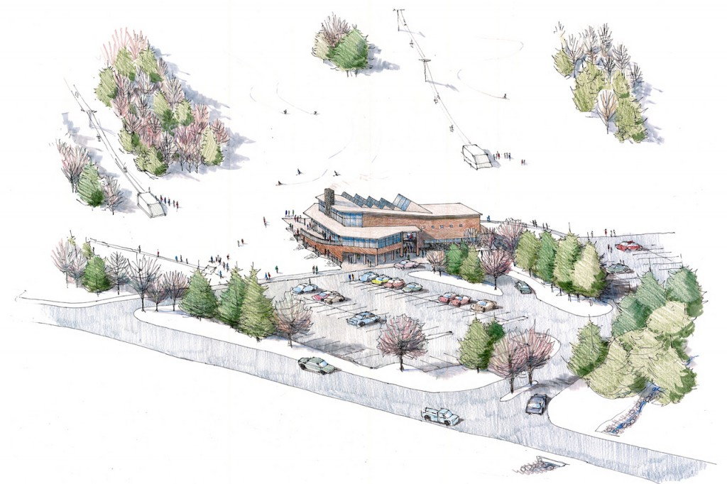 Illustrations from Camden Snow Bowl's plan. (Courtesy of Camden Snow Bowl and the Town of Camden)