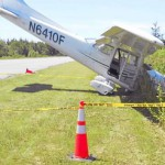 Plane damaged after rough landing by student pilot at Sanford airport