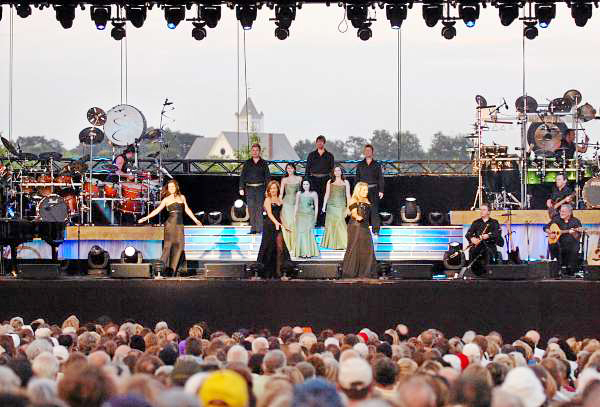 Celtic Woman performs on the Bangor Waterfront on Wednesday, July 28, 2010 as part of the Hollywood Slots Waterfront Concert Series. (Bangor Daily News/Bridget Brown)