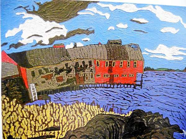 Judith Coleman's &quotFish Factory&quot was painted in 1973, part of a body of work that captured Eastport's working waterfront.
