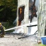 Torch spark deemed cause of garage fire