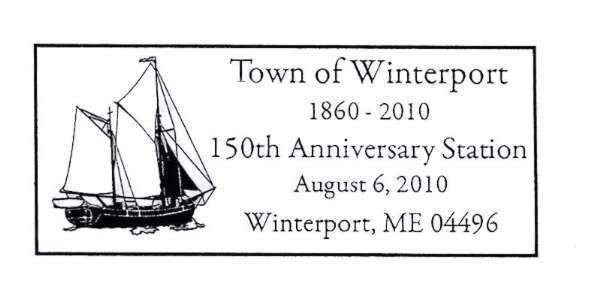 Winterport Post Office Offers Special Postmark to mark Town?s 150th Anniversary