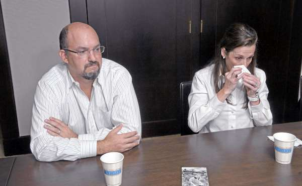 Karen and Brian Cohn talk, Friday, July 23, 2010 in Greenwich, Conn., about the drowning death of their son Zachary. They are campaigning for tougher laws and to raise awareness about the dangers that surround pools. (AP Photo/Douglas Healey)