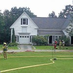 Fire destroys house in Sullivan