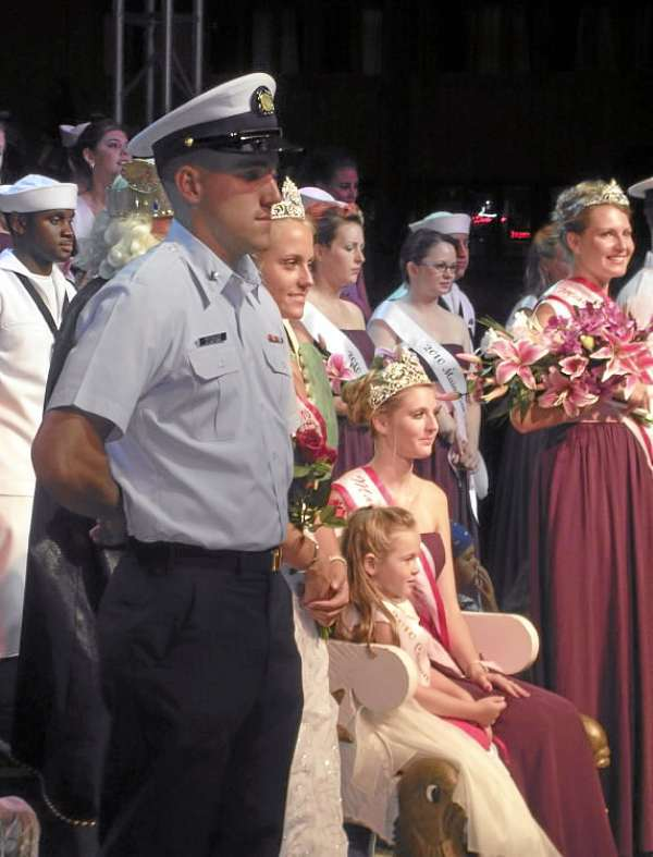 2010 Maine Sea Goddess Emily Benner won a sash and $2,000 Wednesday night at the Maine Lobster Festival. BANGOR DAILY NEWS PHOTO BY HEATHER STEEVES