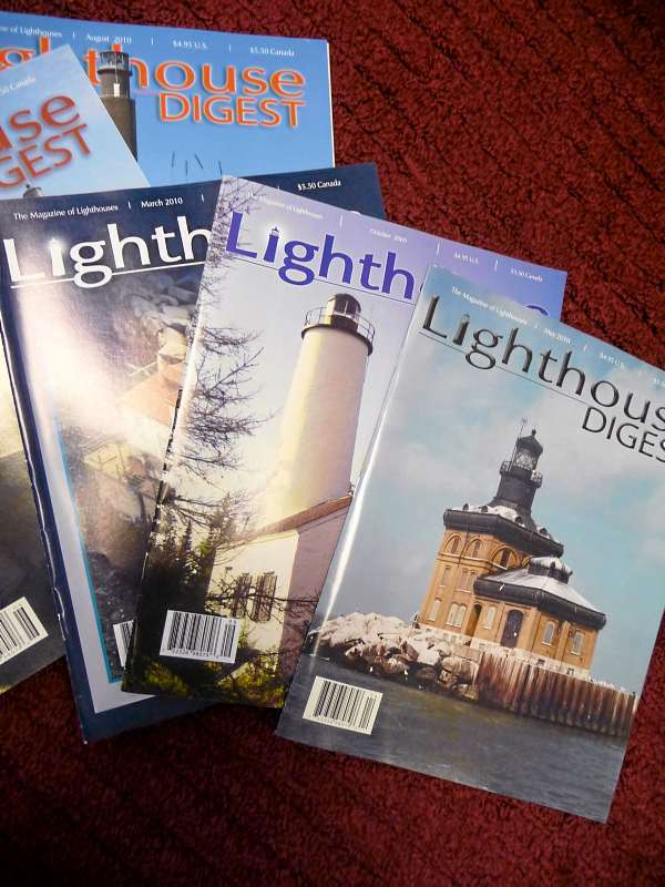 Each edition of Lighthouse Digest contains stories and photographs of lighthouses of today and those that have been destroyed, along with historical articles about lighthouses and lightkeepers. BANGOR DAILY NEWS PHOTO BY SHARON KILEY MACK