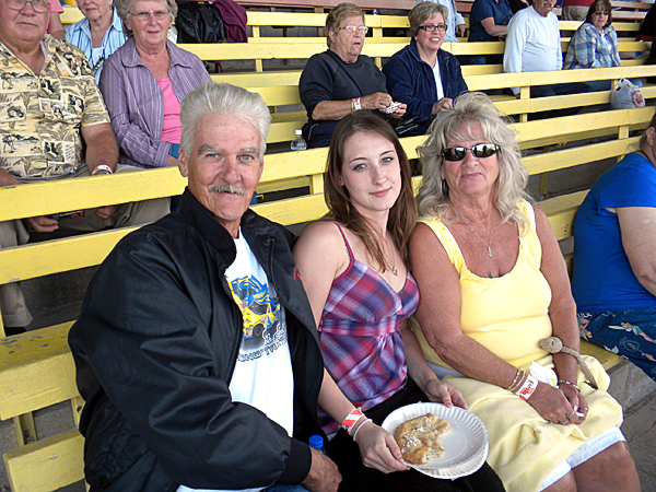 Don and Donna Spaulding, of Easton, with granddaughter Jill Nickerson, of Portland all came to the Bangor State Fair Saturday evening to see Dick Stacey's Country Jamboree reunion show. BANGOR DAILY NEWS PHOTO BY NOK-NOI RICKER