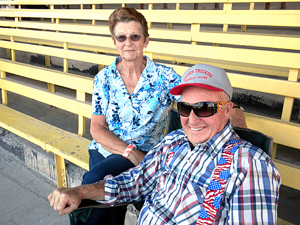 Judy and Gerald Goodwin of Franklin came to the Bangor State Fair Saturday evening to see Dick Stacey's Country Jamboree reunion show.   BANGOR DAILY NEWS PHOTO BY NOK-NOI RICKER
