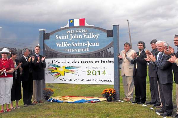 Welcome sign to kick off Acadian congress