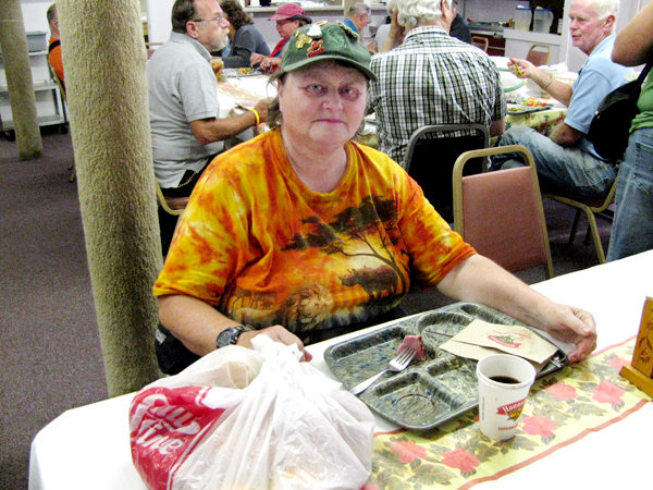 Mary Edmunds of Searsmont had eaten lunch Thursday, Aug. 12 at the Belfast Soup Kitchen. &quotI think it's nice. Especially for people who ain't got so much,&quot she said of the facility. BANGOR DAILY NEWS PHOTO BY ABIGAIL CURTIS