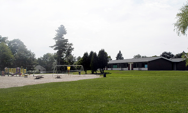 The Dr. Charles C. Knowlton School could be the sight of a community park if a proposal from the committee which has studied the school's reuse, moves forward. City Councilors in an unofficial straw poll on Monday, approved of the concept proposal. BANGOR DAILY NEWS PHOTO BY RICH HEWITT