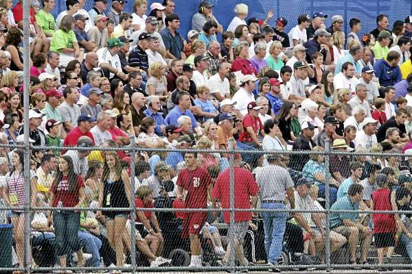 The stands were full for the 5 pm game between the home team District Three champs versus South Vineland , NJ, at Mansfield Stadium, Bangor, Wed., August 19, 2010. Bangor Daily News/Michael C. York