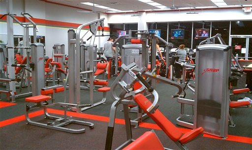 This Aug. 6, 2010 photo provided by Jay Hennessey, shows the refurbished Snap Fitness Gym, in Ashland City, Tenn., which has reopened after flood waters from a storm May 2, 2010, closed the facility for three months. (AP Photo/Jay Hennessey) NO SALES