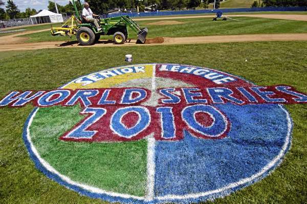 On Friday Ronald St. Pierre (cq) of Bangor, field director at Shawn T. Mansfield Stadium, was busy on the facility's diamond grading the dirt in preparation of the Senior League World Series. The opening ceremony for the series takes place Saturday at 8 p.m and the games run Sunday, August 15 through Saturday, August 21. (Bangor Daily News/John Clarke Russ)