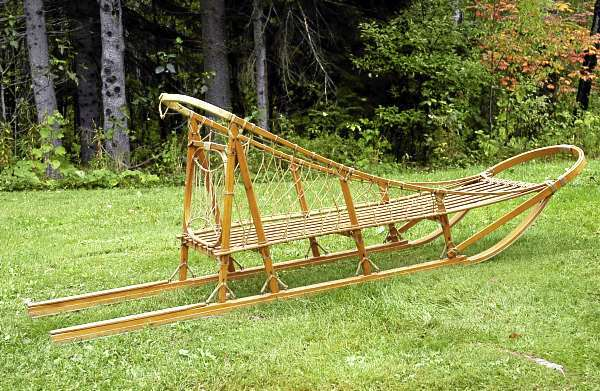 It may not transport any Belgian troops, but this Ed Moody expedition-style sled - one of only five known in existence - makes a nice addition to any musher's fleet. (photo by Julia Bayly)