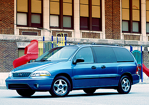 This undated image is of 2002 Ford Windstar LX.  Ford announced Friday, Aug. 27, 2010, it is recalling 575,000 older model Windstar vans in the United States and Canada over concerns that the rear axles can corrode and potentially break.    AP PHOTO/ FORD MOTOR CO.
