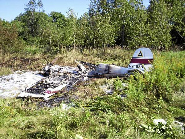 Pilot, passenger suffer minor injuries after plane crash on Moosehead Lake