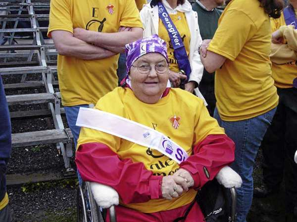 Late Estelle Levesque when she served as honorary chairperson of Old Town ACS Relay for Life in 2006. Photo courtesy of the Mahaney family. FOR JONI COLUMN WEDNESDAY, SEPT. 1.