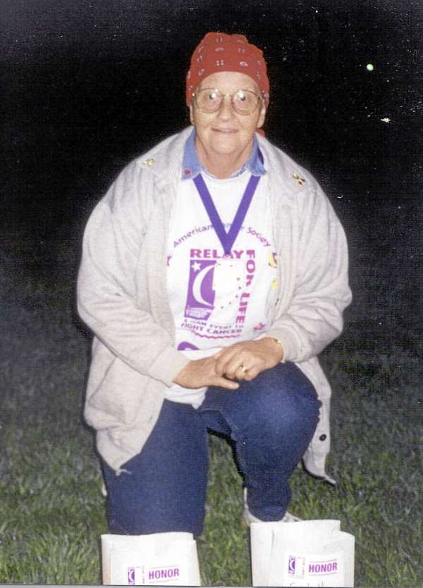 Late Estelle Levesque participating in Old Town ACS Relay for Life. Photo courtesy of the Mahaney family. FOR JONI COLUMN  WEDNESDAY, SEPT. 1.