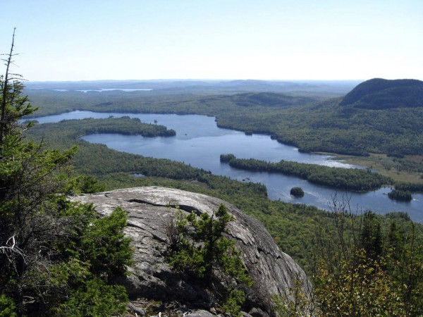 Scenery like this is common along the Appalachian Trail in Maine. In the view is Lake Onawa and in the distance, Sebec Lake. The view is from Barren Mountain Ledges, north of Monson.