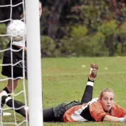 Jordan's late goal helps Old Town earn tie with rival Orono