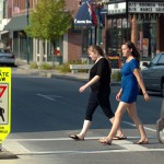 Caribou police promote pedestrian night safety