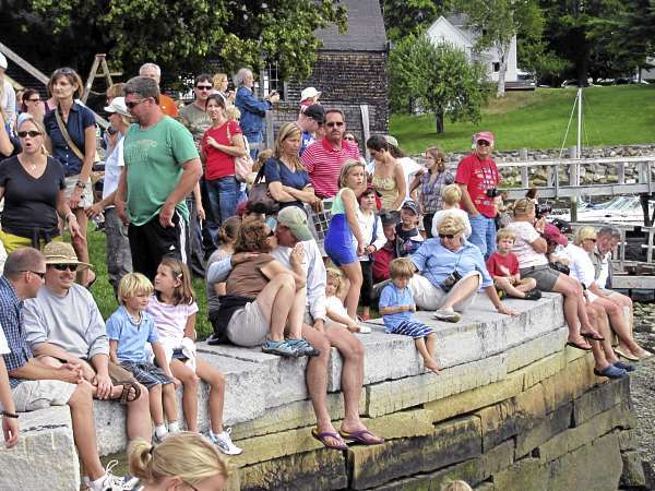 The crowds were heavy at the 16th annual Camden Windjammer Festival on Saturday and Sunday. (Bangor Daily News/Christopher Cousins)