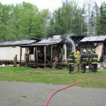 Fire destroys mobile home in St. Albans