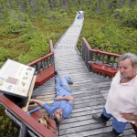 Orono Bog Boardwalk shuts down for season as snow blankets ground