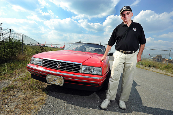 Paul Von Till of Hancock poses with his 1991 Cadillac Allante on Thursday, September 2, 2010 at Bangor. (Bangor Daily News/Kevin Bennett)