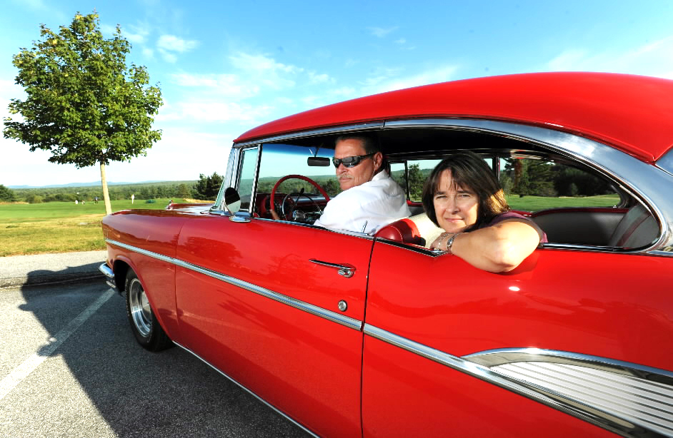 (BANGOR DAILY NEWS PHOTO BY KEVIN BENNETT)CAPTIONDick and Pat Leture of Orono sit in their 1957 Chevrolet Bel Air on Tuesday, September 7, 2010. (Bangor Daily News/Kevin Bennett)