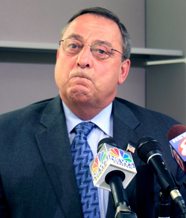 Republican gubernatorial candidate Paul LePage pauses during a news conference where he outlined his job-creation plan, in Augusta, Maine, on Monday, Sept. 13,  2010. LePage  deflected questions about taxes paid on a Florida home. He replied testily that questions about tax exemptions claimed by his wife already have been answered. The Kennebec Journal reported last week that Ann LePage claimed permanent residency in both states and could be fined in Florida. LePage's campaign described it as a &quotpaperwork error.&quot  (AP Photo/Pat Wellenbach)