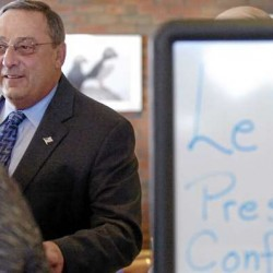 LePage spars at press conferences