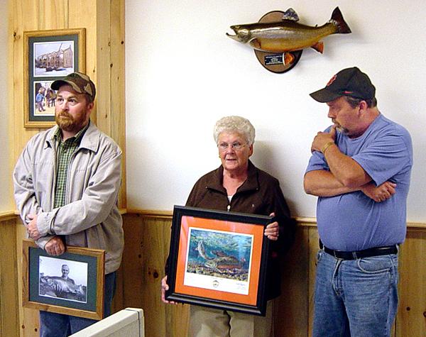 Brook trout presentation. (Photo courtesy of Gordon Nelson Kramer) With Holyoke story.