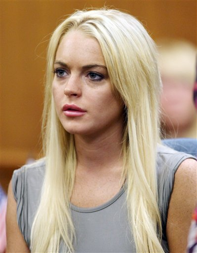 Lindsay Lohan checks in and out of jail again