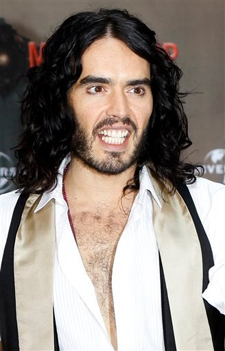 FILE - In this June 25, 2010 file photo, British actor Russell Brand poses during a photo-call to promote his movie &quotGet Him To The Greek&quot  in Berlin. (AP Photo/Markus Schreiber, file)