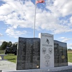 New granite veterans memorial dedicated at Hodgdon ceremony