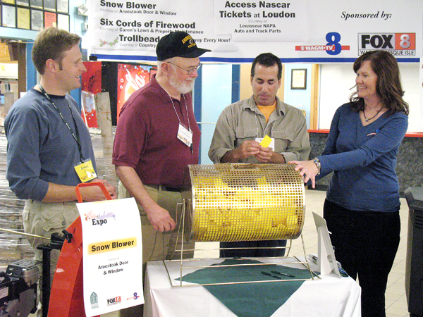 Organizers of the Fall and Winter Expo draw for the winners of the door prizes at the 2009 show. The 2010 Fall and Winter Expo, which will be held Oct. 2 and 3rd at The Forum in Preque Isle, will feature over $15,000 worth of prizes that attendees will have a chance to win. Participating in the 2009 drawing were