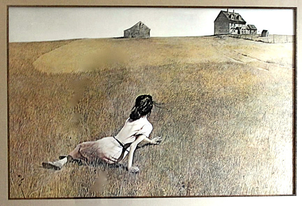 nurseart: The Andrew Wyeth &quotChristina's World&quot print donated by Ed and Adam Perkins of School Street Picture Framing in Brewer will be auctioned off at the second annual Bangor Nursing & Rehabilitation Center art show on Oct. 2 at the Masonic Center in Bangor. The artwork's estimated value is $380. (Copy photo provided by Bangor Nursing & Rehabilitation Center)
