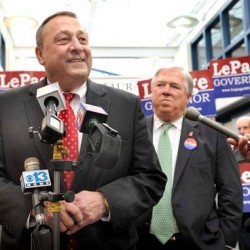 LePage softens tone in Bangor visit