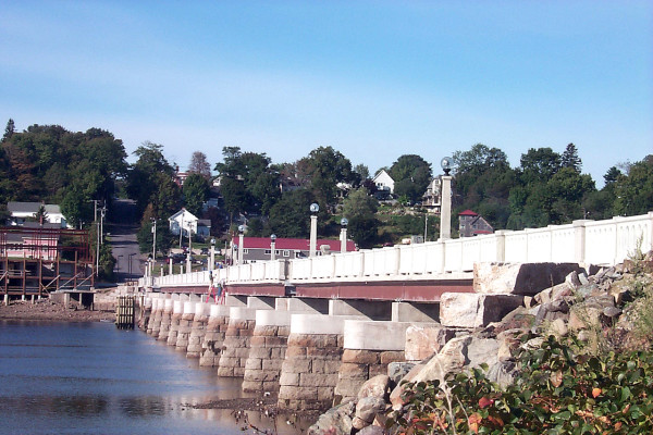 A restored version of the old bridge that carried U.S. Route 1 travelers across the Passaagassawaukeag River in Belfast for 40 years (1921) photo, above) has been restored, and its role as a footbridge will be celebrated this weekend. A day of events will be capped by fireworks Saturday night. (Bangor Daily News photo by Walter Griffin)